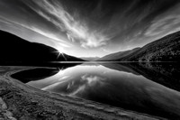 Kootenay Lake Sunrise Black and White