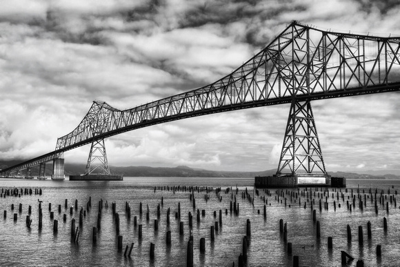 Astoria Bridge in Black and White