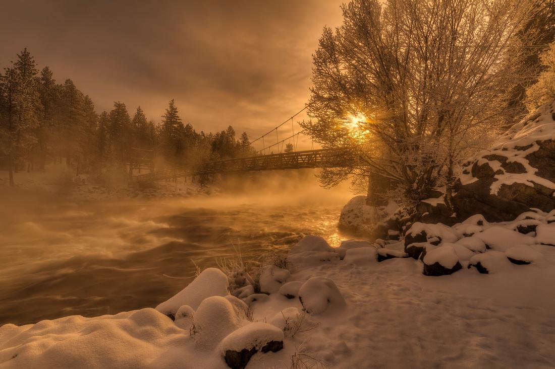 Frosty Riverside