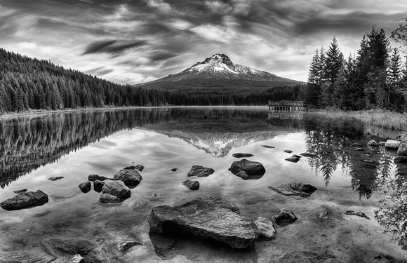 Trillium Lake Black and White