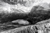 Grinnell Lake Overlook Black and White